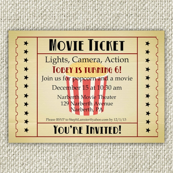 Movie Ticket Birthday Invitation was nice invitation design