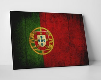 Vintage Portugal Flag Gallery Wrapped Canvas Print
