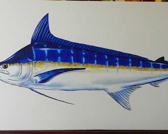 Blue Marlin Acrylic Original Painting