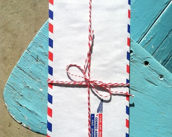 Vintage Air Mail Envelopes Bundle of 10, Par Avion, Correo Aereo