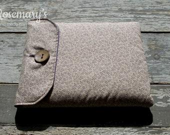 Cream and Purple, Floral iPad Air Case