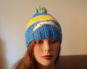 Knitting Sports San Diego chargers beanie