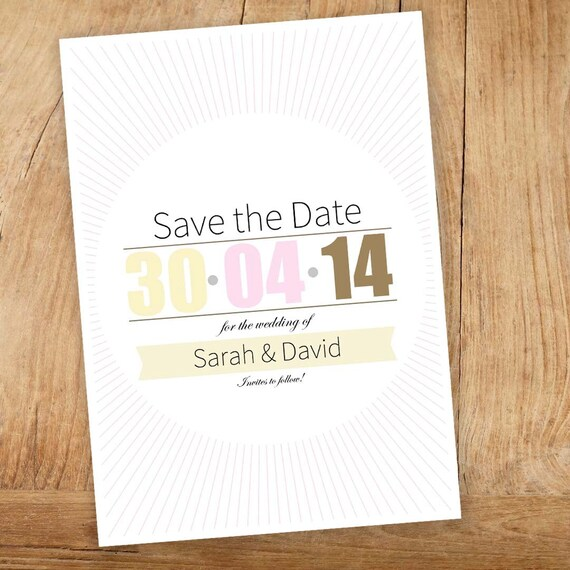 items similar to neapolitan save the date template editable pdf template instant download. Black Bedroom Furniture Sets. Home Design Ideas