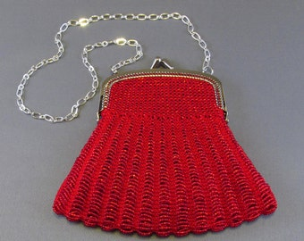 The Hampton, a beaded purse with lining and metal frame