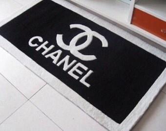Chanel Logo Inspired Black Doormat Mat Rug Bath Mat 20
