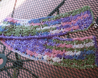 Crochet Scarf, Colorful Scarf