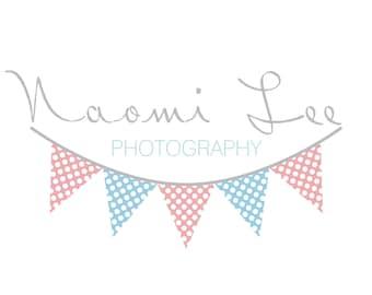Premade photography logo design photography watermark, flag logo