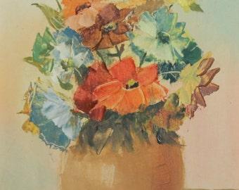 2011 oil painting impressionist still life painting