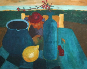 Avant Garde still life oil painting