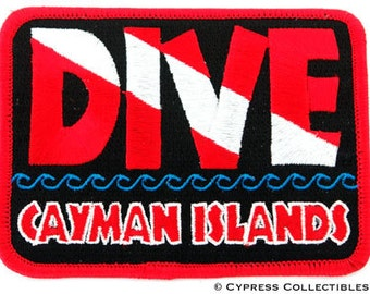 DIVE CAYMAN Islands Scuba Diving PATCH embroidered iron-on Emblem