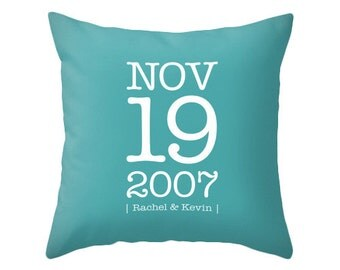 Personalized Custom Anniversary pillow cover Personalized pillow customized cushion wedding anniversary gift engagement anniversary pillow