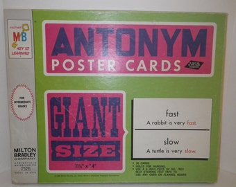 6 Double Sided Antonym Poster Cards-perfect for 11x14 framing!