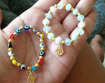 Baby/Kid Hamsa And Evil Eye Bracelets