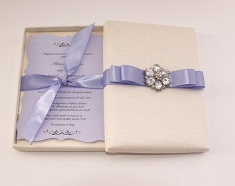 Wedding Invitation Box / Silk Invitation Box / Wedding Invitation