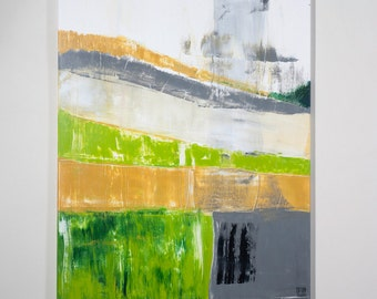 abstract acryl painting BIRCH TREE