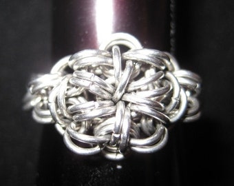Silver Star Cluster Ring