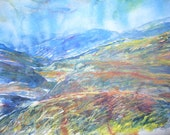 Drumochter, Perthshire 20 x 16 inch Watercolour