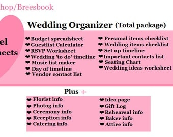 ultimate wedding binder total package excel 1pdf wedding binder
