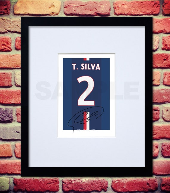 Signed Autograph Moura Lucas Psg: Framed & Mounted Thiago Silva PSG Signed Shirt By TheHysteria