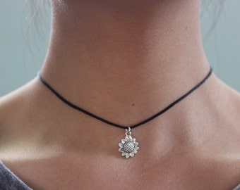 Sunflower Charm Choker