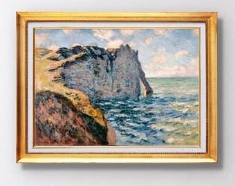 Claude Monet - The Cliff of Aval, Etrétat - Fine Art Glicée - 1885 - SKU 0139