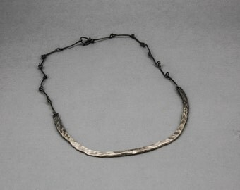 Rock Surface Hammer Textured Necklace