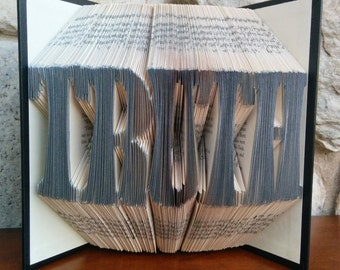 Truth - Folded Book Art - Fully Customizable, Lawyer or Detective