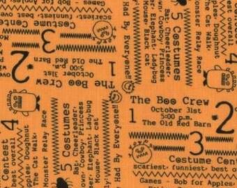 CLOSEOUT  60% OFF Boo Crew Orange Laminate Cotton from Moda