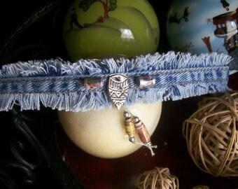 Gypsy Blue Jean Bracelet (arrowhead charms)
