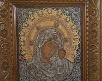 Handmade Needlepoint, Lady of  Kazan, Price With Frame, Wedding Gift, Free Shipping, Vintage Wiehler Gobelin, ready to ship