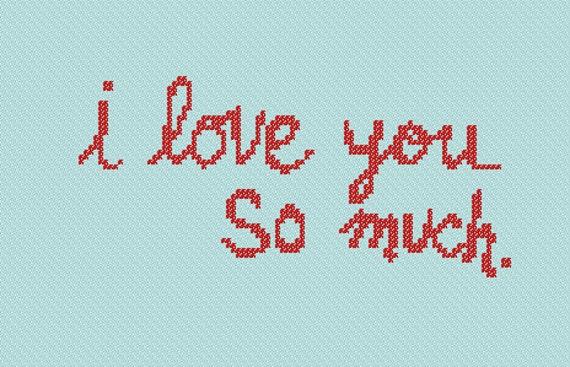 I Love You So Much Austin Texas Graffiti Cross Stitch