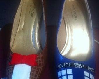 Handpainted Doctor Who heels