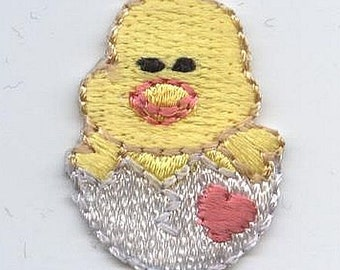 Easter Chick in Egg Iron on Applique 1511284