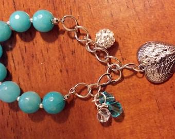 Aqua Charm Bracelet