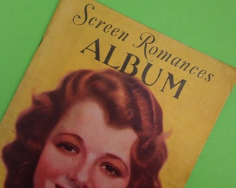 1931 Screen Romances Film Stars Actors and Actresses Album Vintage Magazine Hollywood Glamour Movie Booklet Ephemera Gatsby Glamour 30s 40s