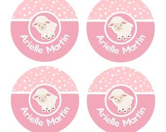Little Lamb Labels, Dishwasher Safe Labels, School Name Labels, Day Care Labels