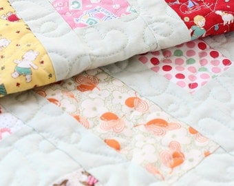 All Lined Up Baby Quilt