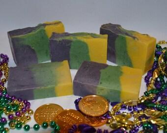 Carnival Coconut Soap, Handmade Bar Soap - Coconut Scent