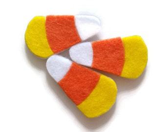 Candy Corn Patch Set of 3 - No Sew - Felt - Thanksgiving Decoration