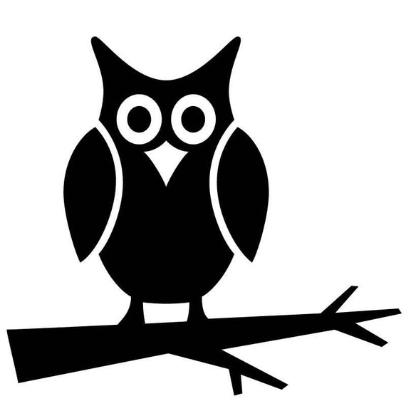 Items Similar To HW14 Reusable Laser-Cut Stencil Owl On A