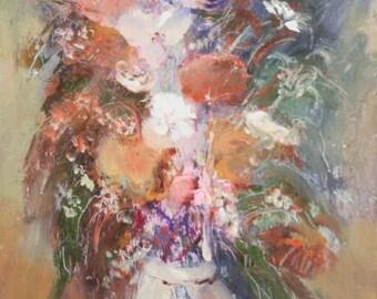 1970's European art oil painting stil life