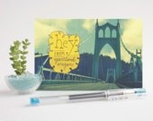 Hey From Portland / St. Johns Bridge - Set of 3 Postcards