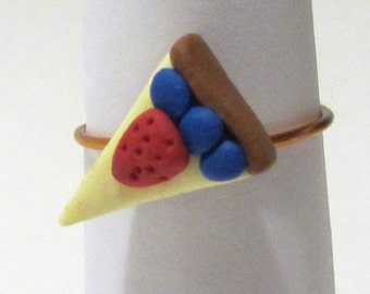 Cheesecake Ring - Polymer Clay