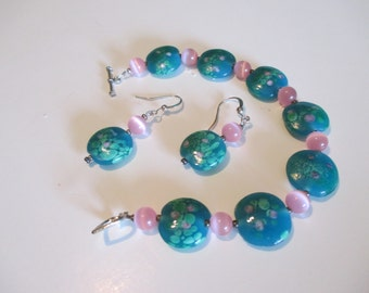 Unusual Bracelet and Earrings Set
