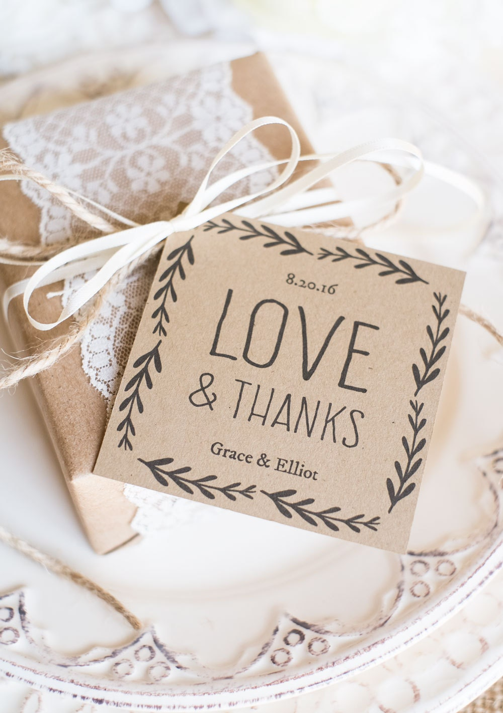 Gargantuan image within printable wedding favor tags