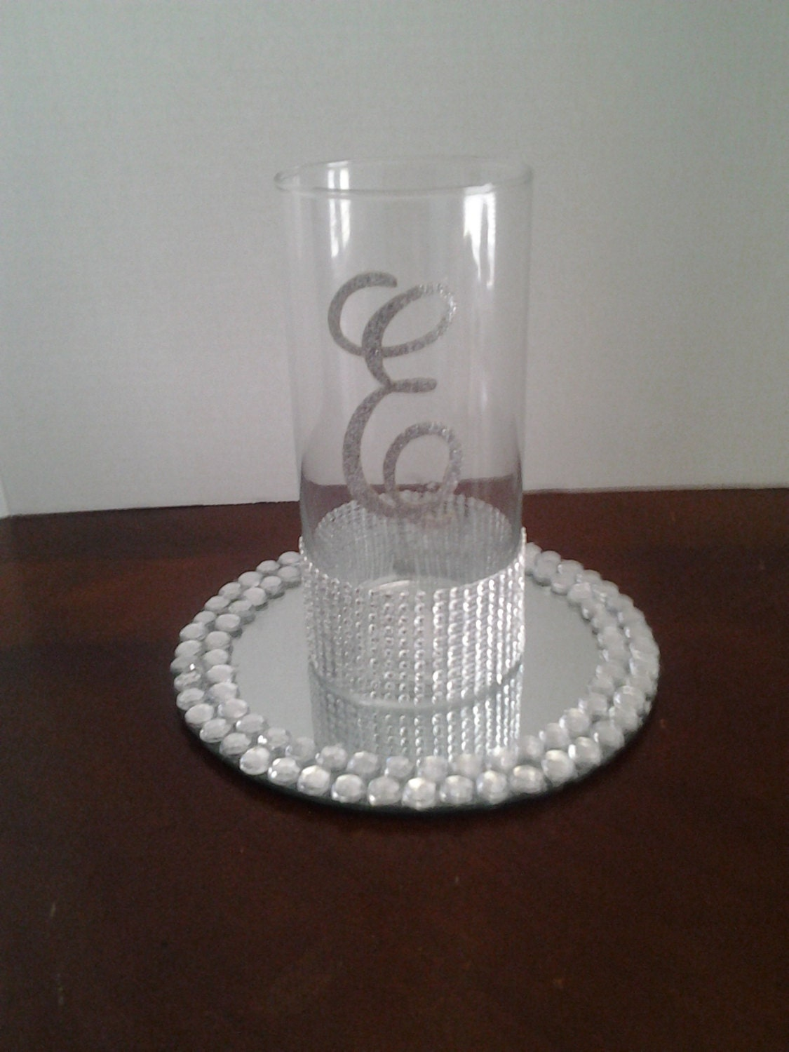 Wedding centerpiece glass candle holder decorations