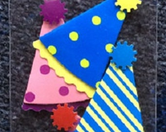 Party Hat Birthday Embellishments  - Scrapbooking Suppies - Jolee's by You