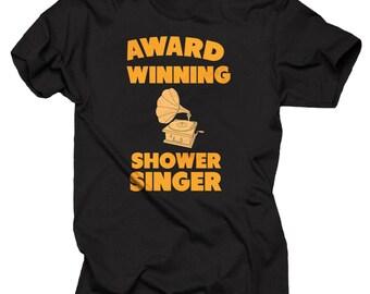 Award Winning Shower Singer T-shirt Funny T-shirt Singer shirt