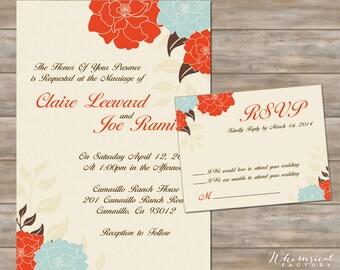 Spring Wedding Flower Invitation