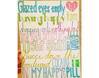 Happy Little Pill - Troye - Lyric Drawing
